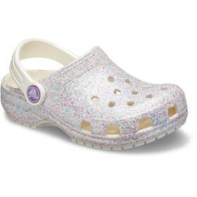 Crocs Classic Glitter Clogs zoccoli Bambino, oyster